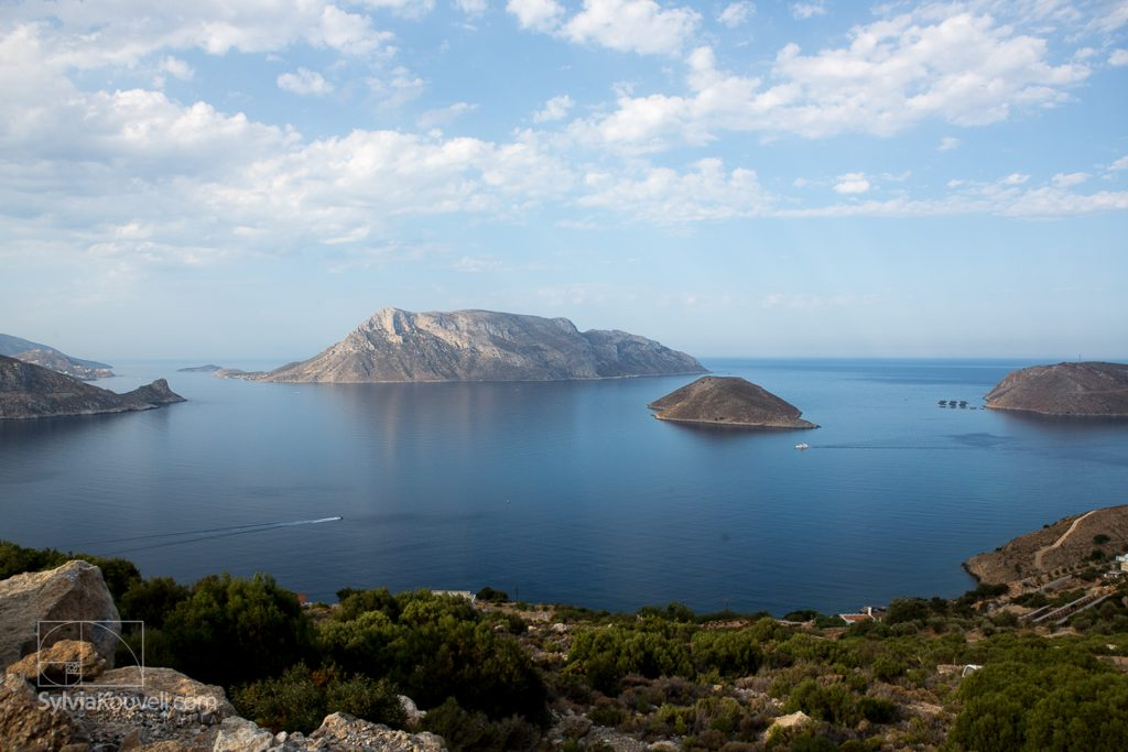 Telendos, as seen from a high point on Kalymnos