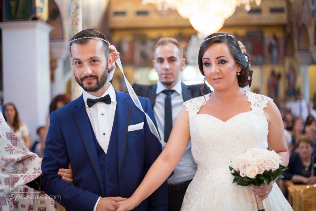 Groom, bride and best man